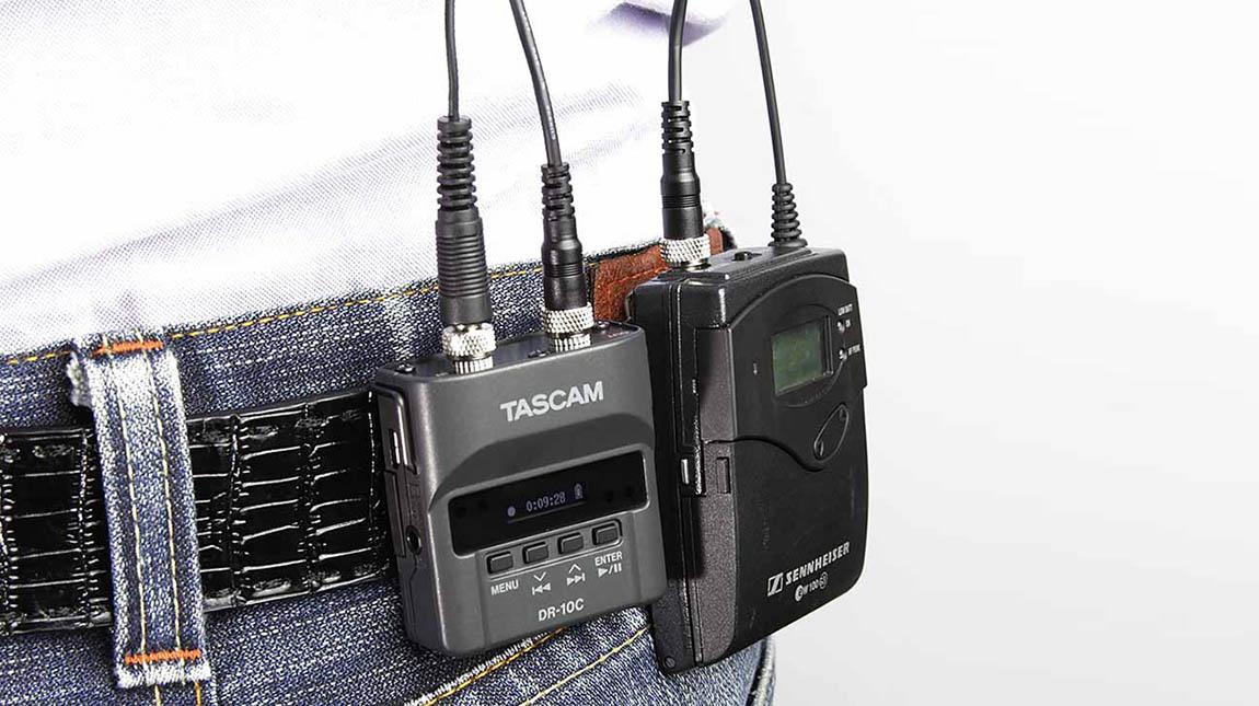 تاسكام تبتكر طريقة جديدة لتسجيل الصوت باستخدام مايك DR-10L