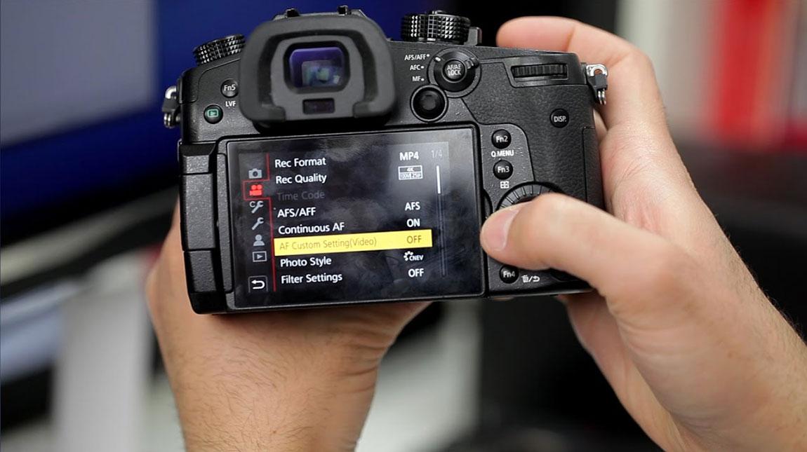 إعدادات تصوير الفيديو