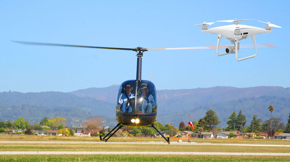 تحطم مروحية هليكوبتر في الولايات المتحدة الامريكية بسبب درون