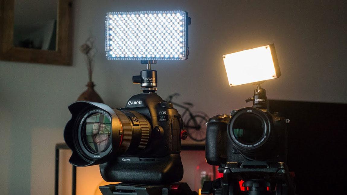 إطلاق أفضل إضاءة فوق الكاميرا من Aputure