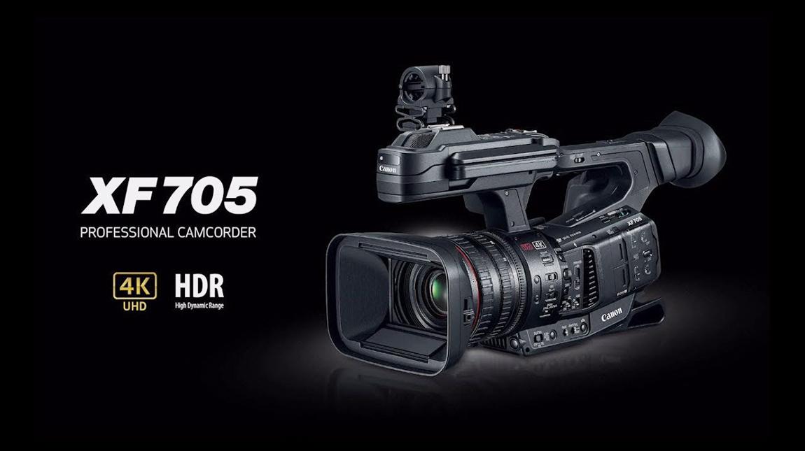 إطلاق كاميرا كانون XF705 لتصوير الفيديو بجودة 4K