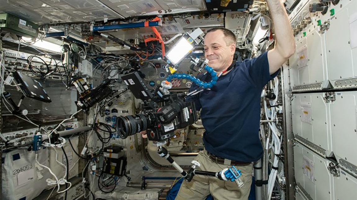 ناسا تستخدم كاميرا ريد هيليوم لتصوير اول فيديو بجودة 8K في الفضاء