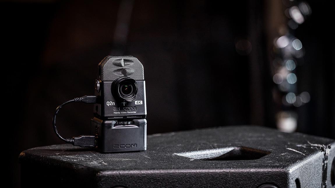 الإعلان عن زوم Q2n-4K جهاز تسجيل صوت وكاميرا تصوير بجودة 4K