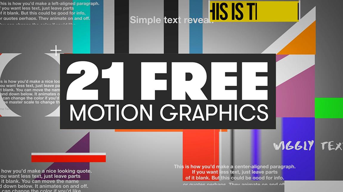 قوالب موشن جرافيك مجانية للتحميل لبرنامج ادوبي بريمير برو Creative School Arabia