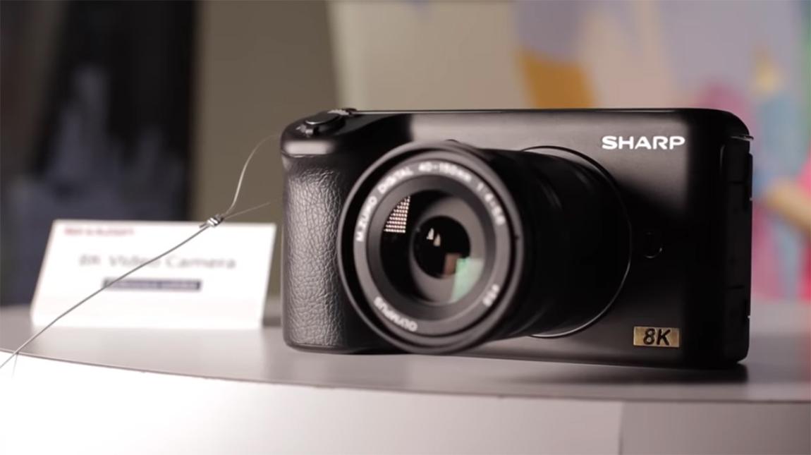 كاميرا Sharp 8K | اول كاميرا تصوير فيديو بجودة 8K للمستهلكين