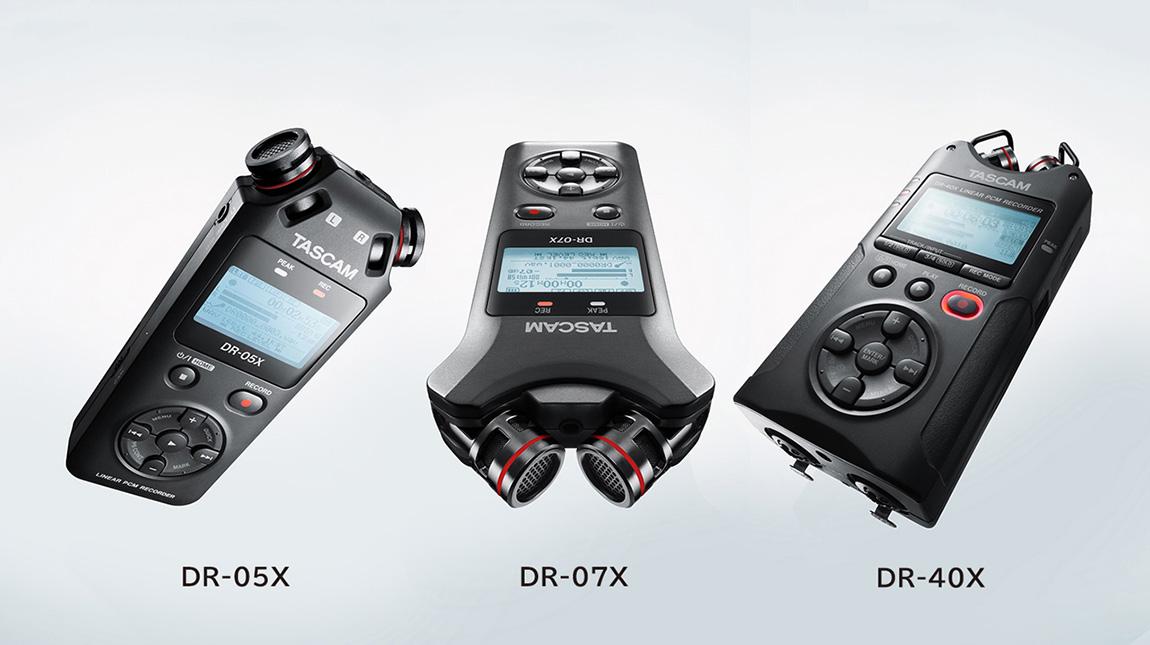 إطلاق سلسلة Tascam DR-X من اجهزة تسجيل الصوت المحمولة