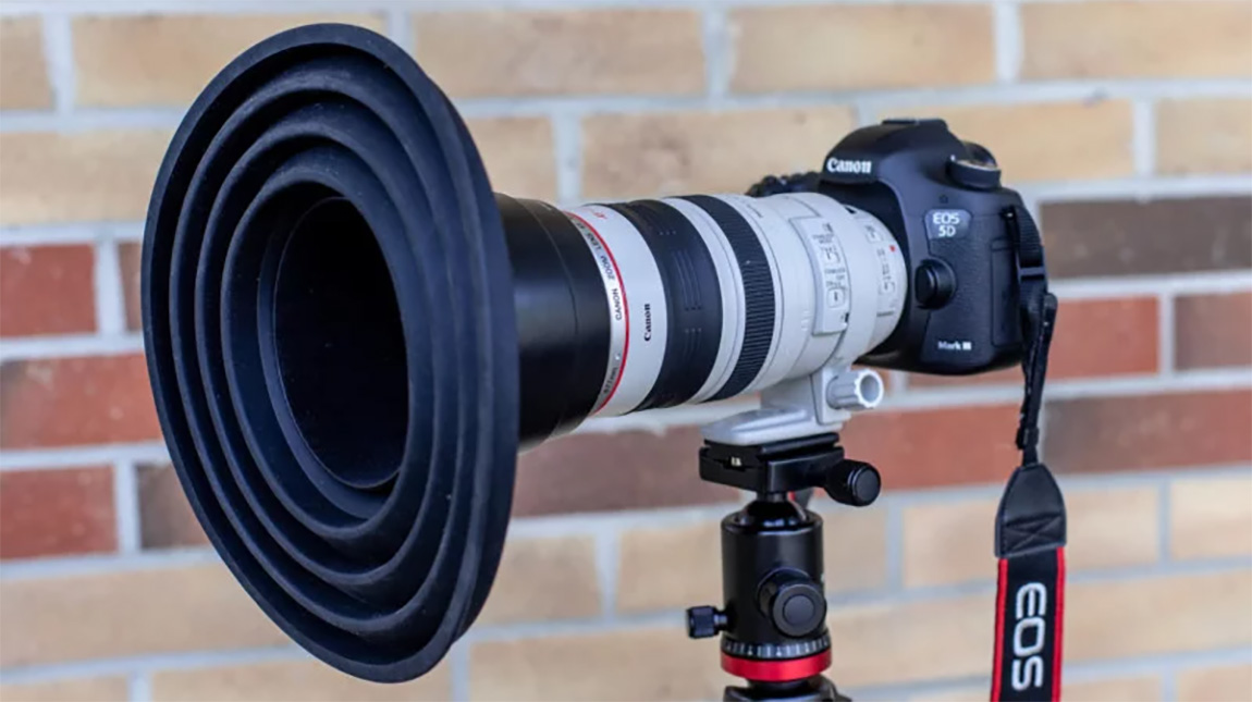 اداة Ultimate Lens Hood للتصوير خلال الزجاج بدون انعكاس