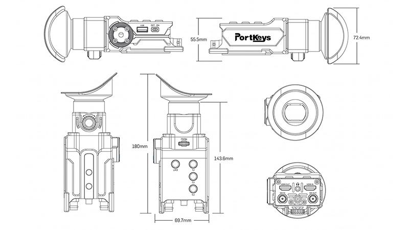 عدسة المعاينة الإلكترونية OEYE-3G EVF من PortKeys