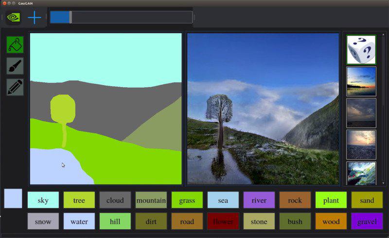 برنامج انفيديا GauGAN لتشكيل صور واقعية من رسومات بدائية