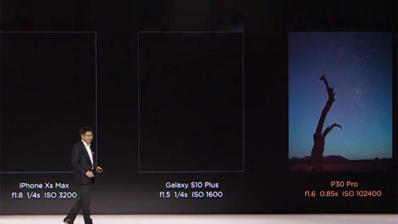 هواوي P30 Pro بحساسية ISO 409600 وأربع كاميرات خلفية