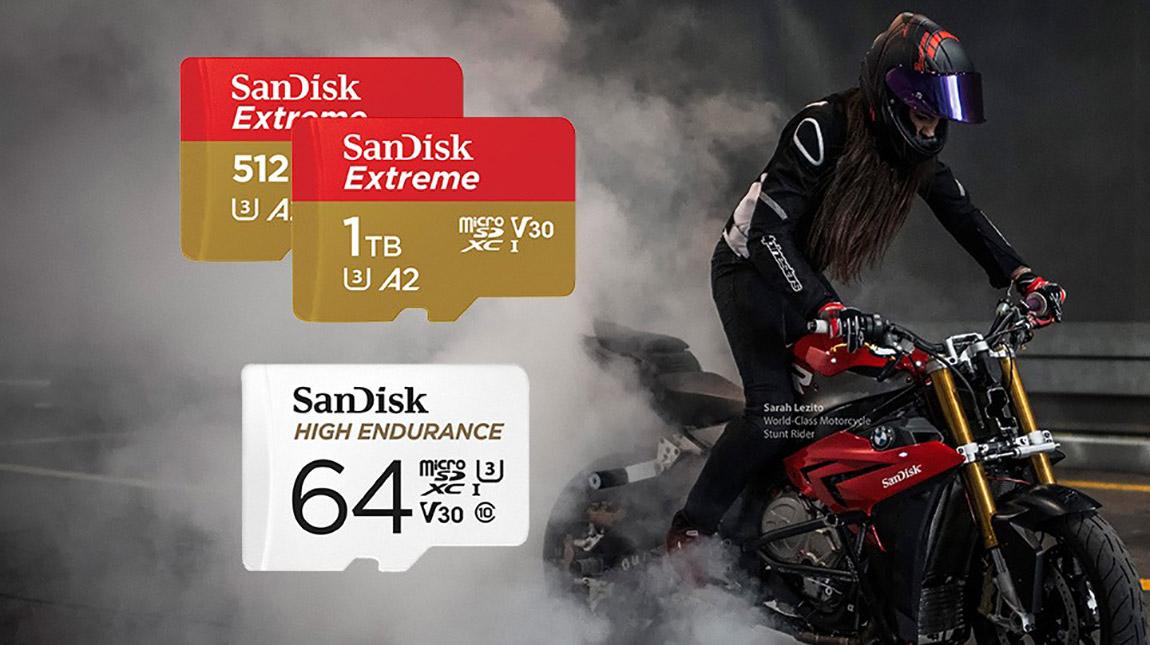 سانديسك UHS-I microSDXC بطاقة ذاكرة بسعة تخزين ضخمة