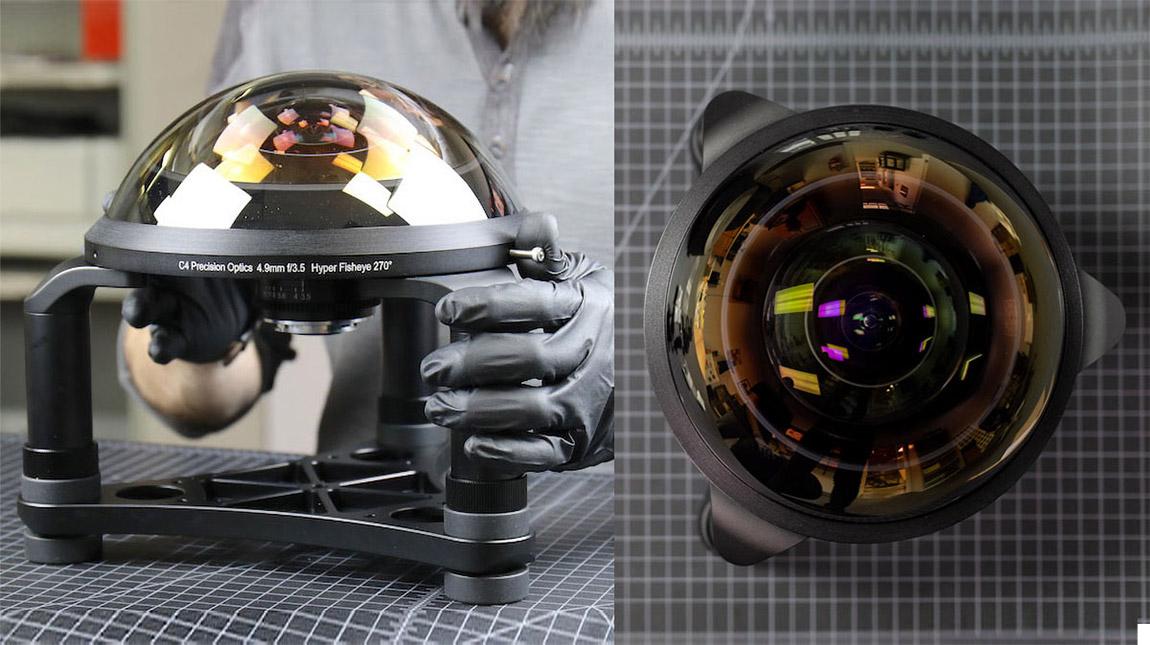 اوسع عدسة Fisheye في العالم قياس 4.9mm من C-4 Optics