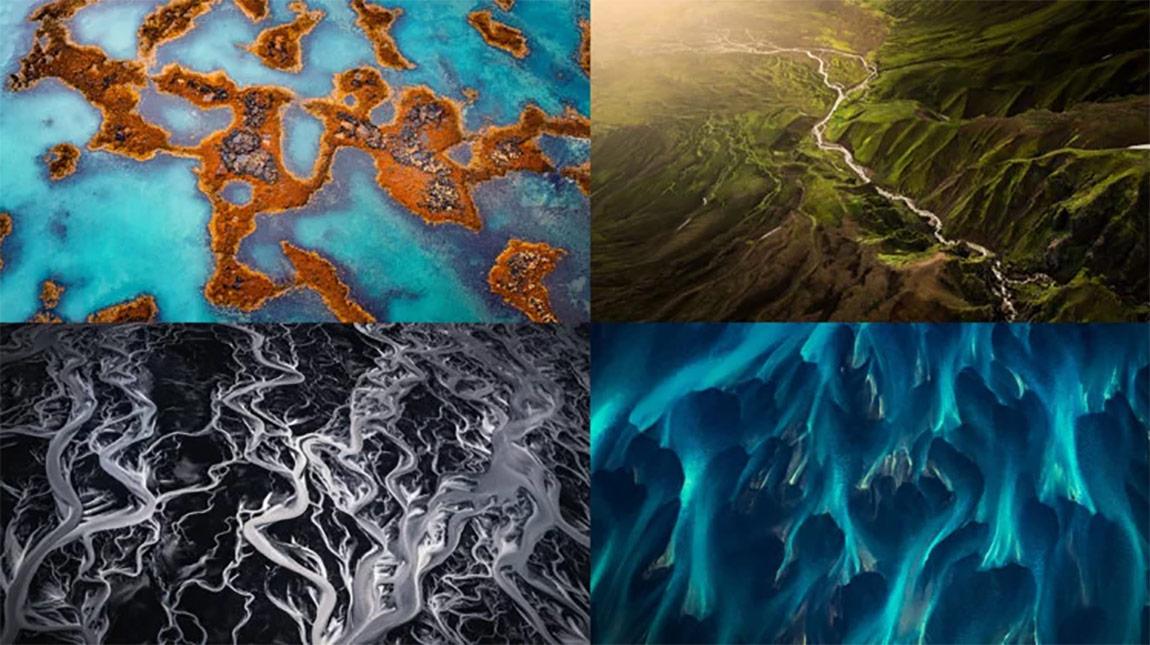 ايسلندا | صور جوية اشبه بلوحات فنية للطبيعة في Iceland