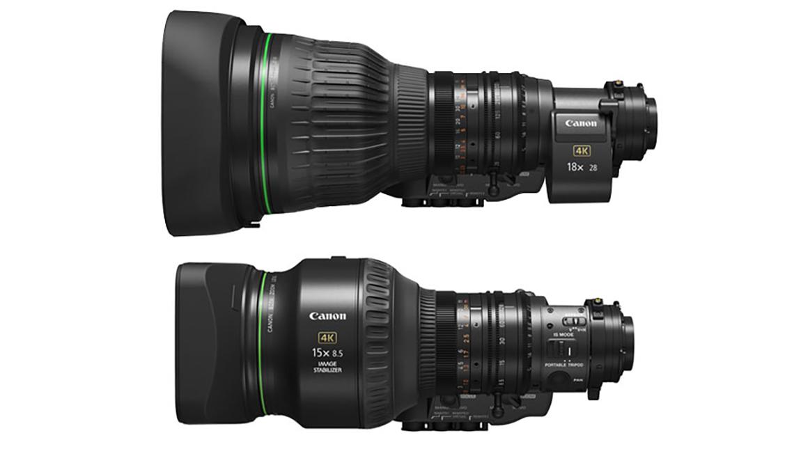 كانون تطلق اصدارين جديدين من عدسات البث بجودة 4K