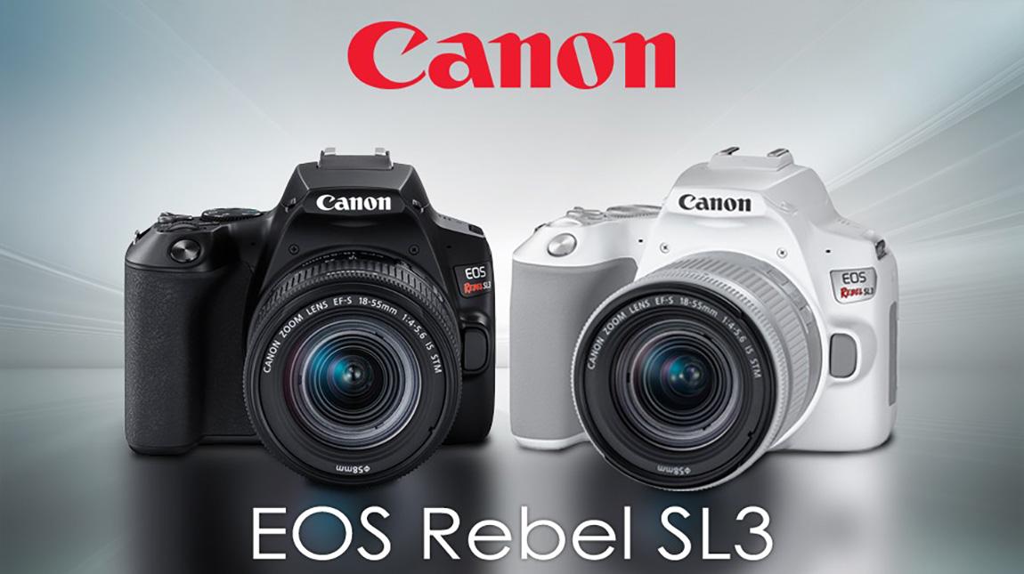 كاميرا Rebel SL3 اخف واصغر كاميرا من كانون بجودة تصوير 4K