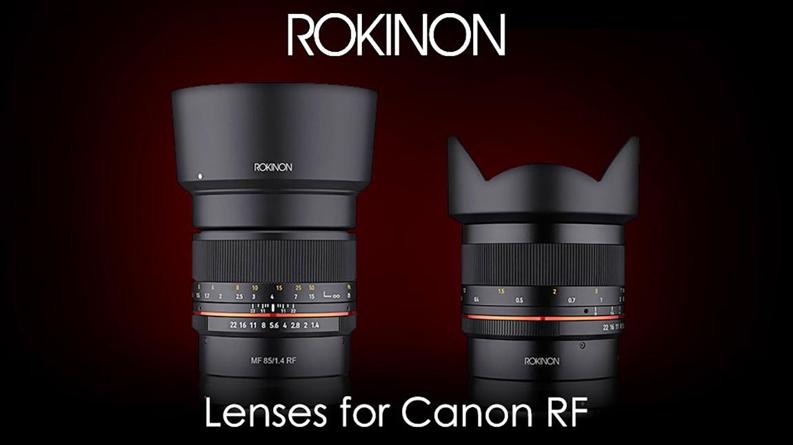 اطلاق سلسلة عدسات روكينون RF لكاميرات كانون ميرورليس