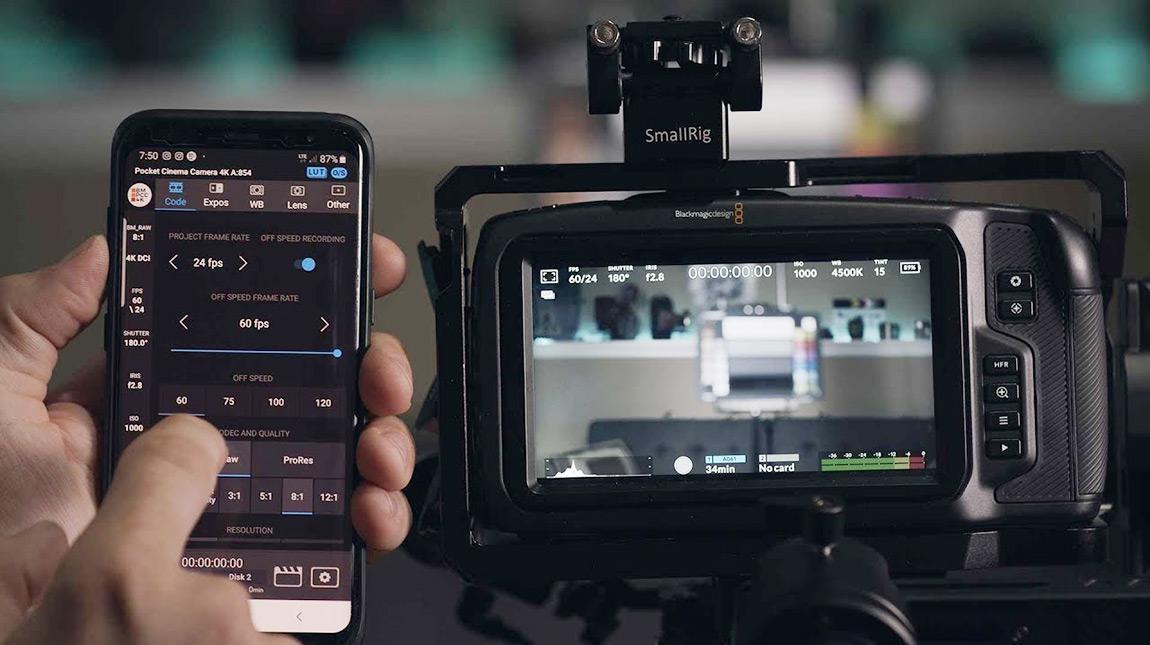 تطبيق BMPCC 4K Controller للتحكم بالكاميرا بواسطة الهاتف الذكي