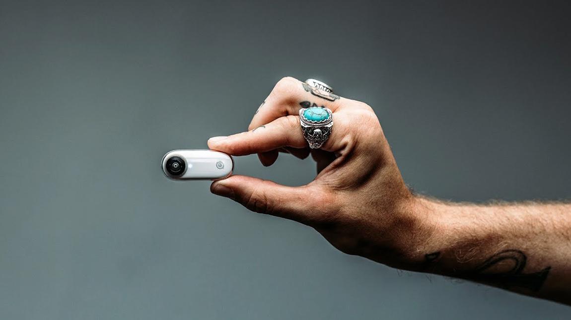 كاميرا Insta360 GO لتصوير فيديو HD مع نظام استقرار وبحجم اصبع اليد