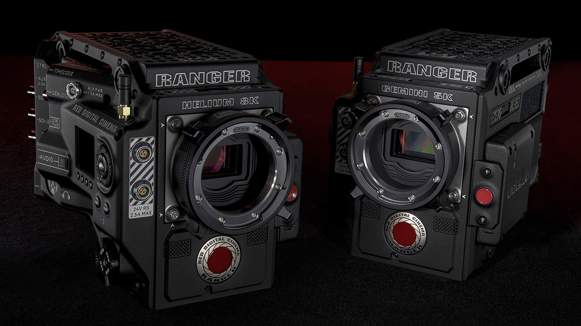 RED تعلن عن كاميرتي RANGER HELIUM 8K و RANGER GEMINI 5K