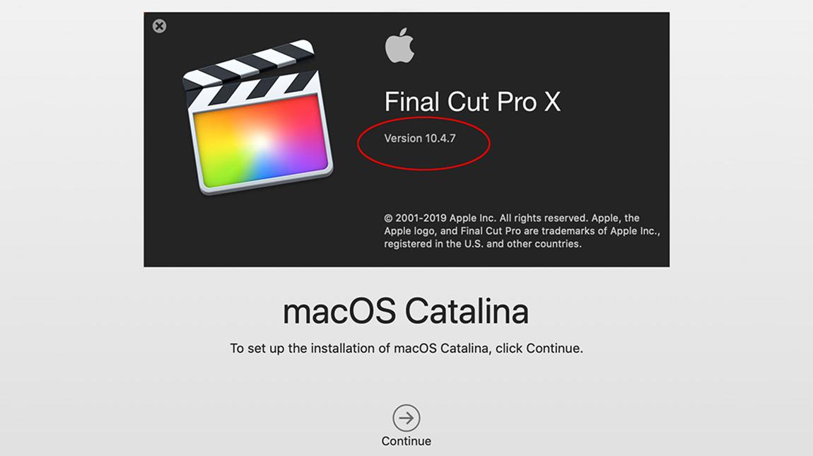 اطلاق Final Cut Pro 10.4.7 المحدث من فاينل كت برو مع دعم نظام كاتالينا