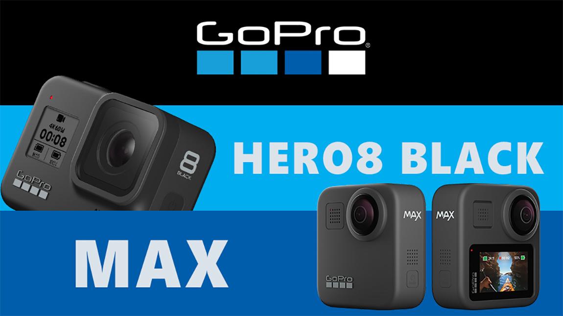 الاعلان عن كاميرا GoPro Hero8 Black و GoPro Max 360 Action