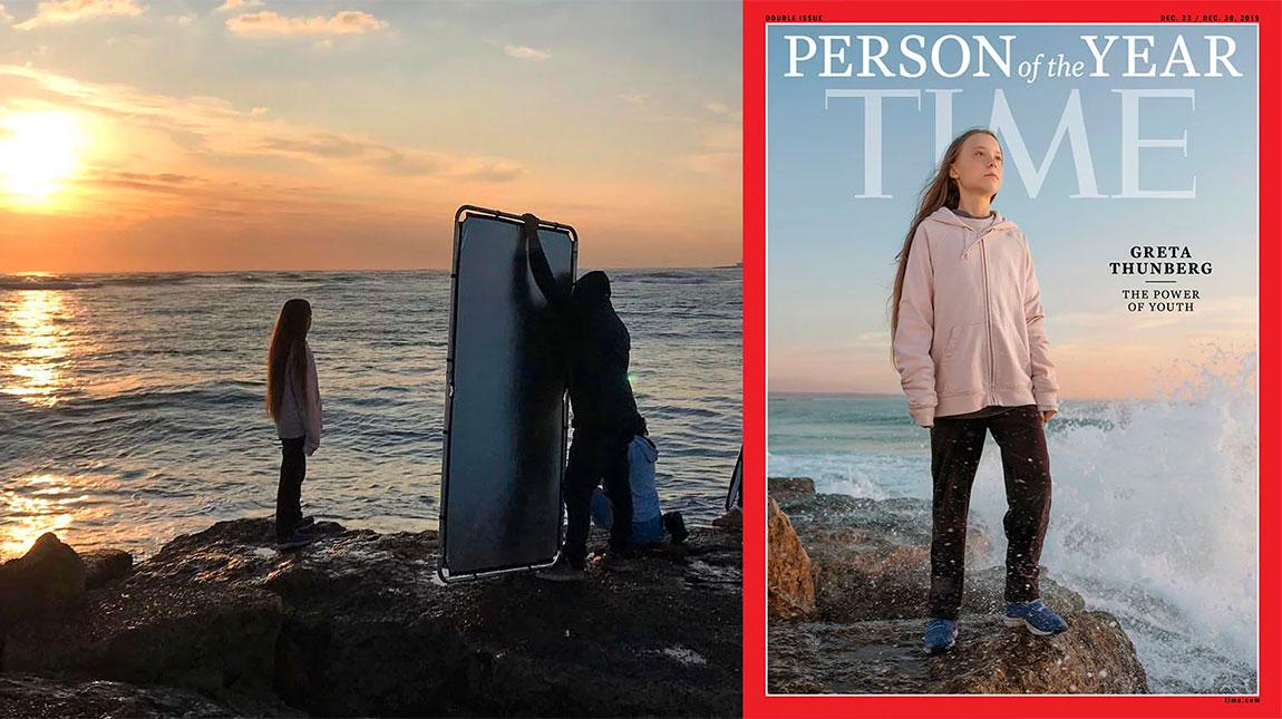 كواليس تصوير الناشطة البيئية غريتا تونبرغ لشخصية العام في غلاف مجلة TIME