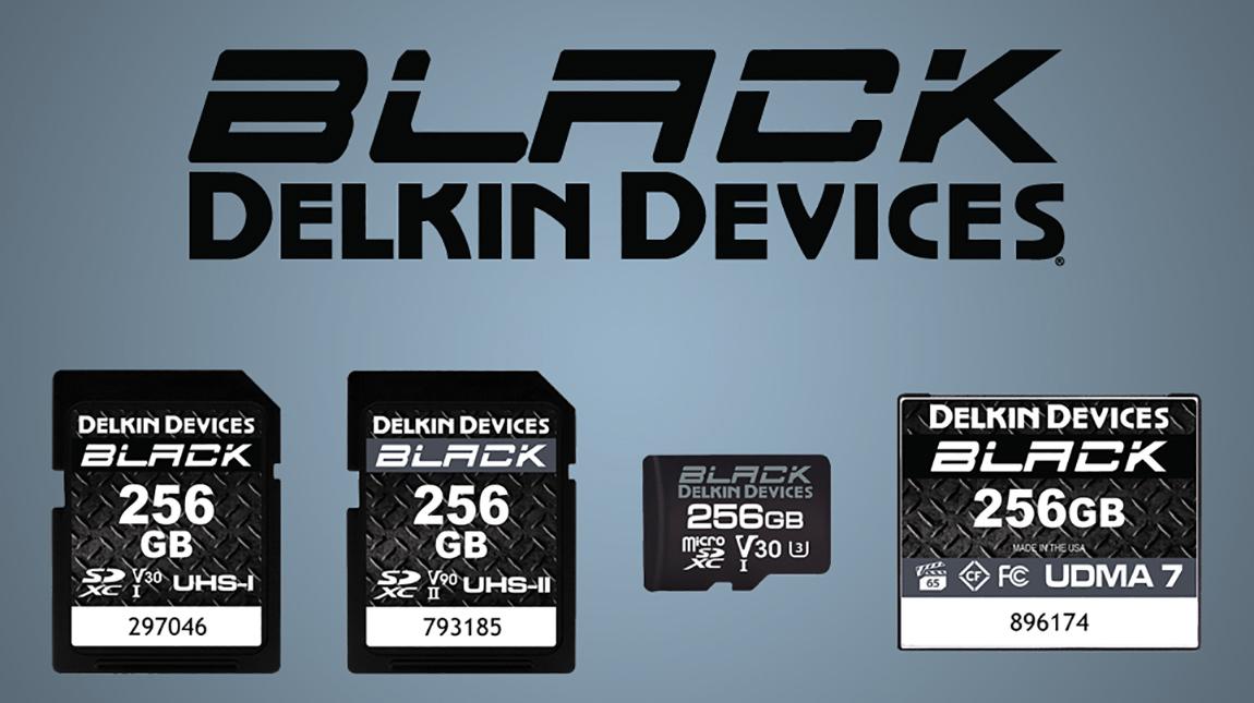 شركة Delkin تطلق مجموعة بطاقات ذاكرة SD و CF من سلسلة BLACK