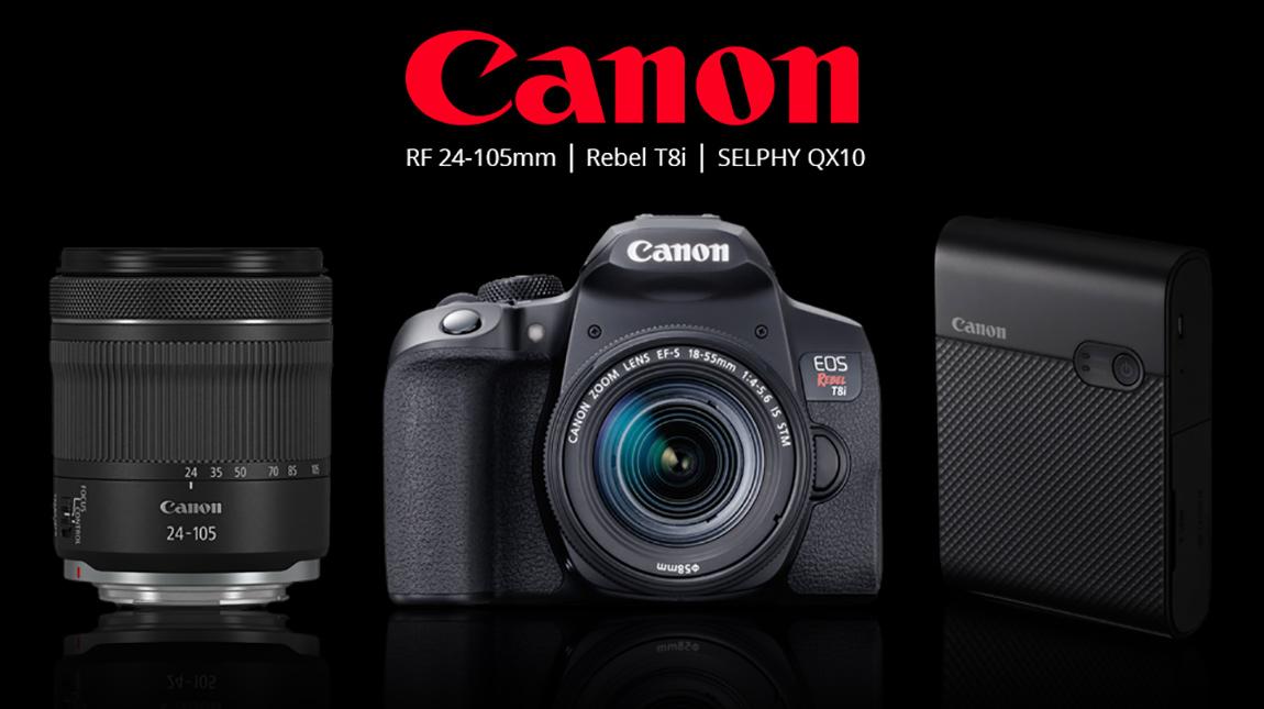 كانون تطلق كاميرا Rebel T8i وعدسة RF 24-105mm و SELPHY QX10 لطباعة صور السيلفي