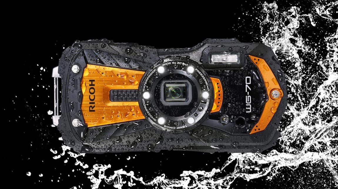 الاعلان عن Ricoh WG-70 كاميرا مضادة للصدمات وللتصوير تحت الماء