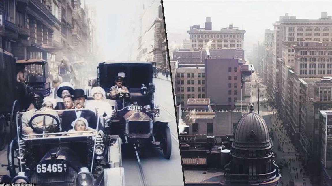 بالفيديو | استخدام الذكاء الاصطناعي لتلوين مشاهد لمدينة نيويورك عمرها يزيد عن 100 عام