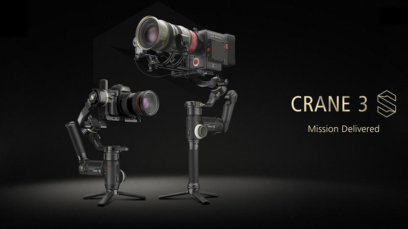 الاعلان عن جمبل Zhiyun CRANE 3S للكاميرات السينمائية وكاميرات تصوير الفيديو